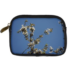 White Cherry Flowers And Blue Sky Digital Camera Cases by picsaspassion