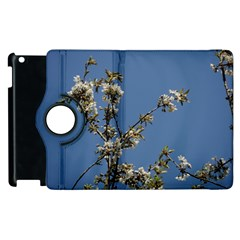 White Cherry Flowers And Blue Sky Apple Ipad 2 Flip 360 Case by picsaspassion