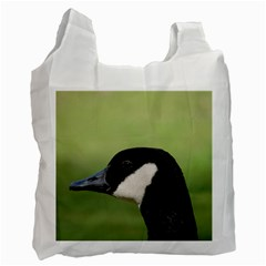 Goose Bird In Nature Recycle Bag (one Side) by picsaspassion