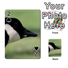 Goose, Black And White Playing Cards 54 Designs  by picsaspassion