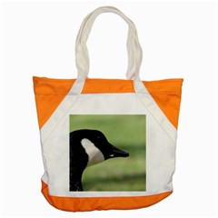 Goose, Black And White Accent Tote Bag