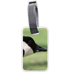Goose, Black And White Luggage Tags (one Side)  by picsaspassion