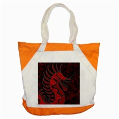 Red Dragon Accent Tote Bag by Valentinaart
