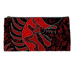 Red Dragon Pencil Cases by Valentinaart