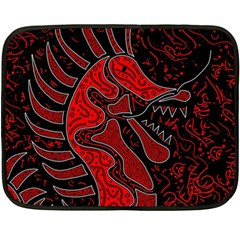Red Dragon Double Sided Fleece Blanket (mini)  by Valentinaart