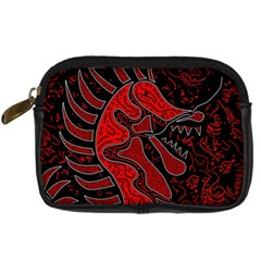 Red Dragon Digital Camera Cases by Valentinaart