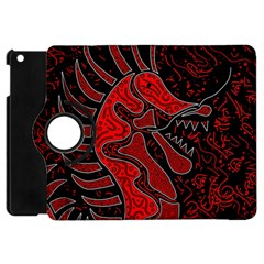Red Dragon Apple Ipad Mini Flip 360 Case by Valentinaart