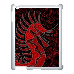 Red Dragon Apple Ipad 3/4 Case (white) by Valentinaart
