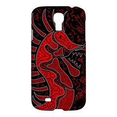 Red Dragon Samsung Galaxy S4 I9500/i9505 Hardshell Case by Valentinaart