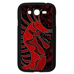 Red Dragon Samsung Galaxy Grand Duos I9082 Case (black) by Valentinaart
