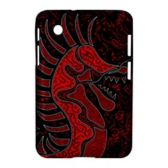 Red Dragon Samsung Galaxy Tab 2 (7 ) P3100 Hardshell Case  by Valentinaart