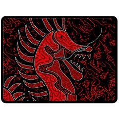 Red Dragon Double Sided Fleece Blanket (large)  by Valentinaart