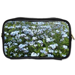 Blue Forget Me Not Flowers Toiletries Bags by picsaspassion