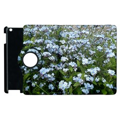 Blue Forget Me Not Flowers Apple Ipad 3/4 Flip 360 Case by picsaspassion