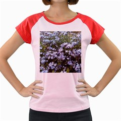 Little Blue Forget Me Not Flowers Women s Cap Sleeve T Shirt by picsaspassion