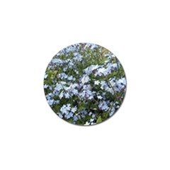 Little Blue Forget Me Not Flowers Golf Ball Marker (4 Pack) by picsaspassion