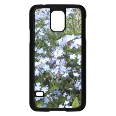 Little Blue Forget Me Not Flowers Samsung Galaxy S5 Case (black) by picsaspassion