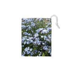 Little Blue Forget Me Not Flowers Drawstring Pouches (xs)