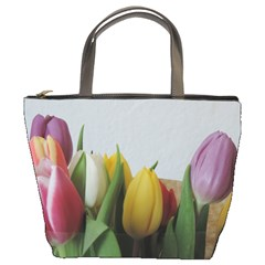 Colorful Bouquet Tulips Bucket Bags by picsaspassion