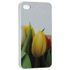 Colorful Bouquet Tulips Apple Iphone 4/4s Seamless Case (white)