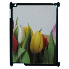 Colorful Bouquet Tulips Apple Ipad 2 Case (black) by picsaspassion