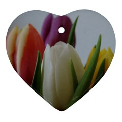 Colored By Tulips Heart Ornament (2 Sides) by picsaspassion
