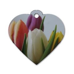 Colored By Tulips Dog Tag Heart (two Sides) by picsaspassion