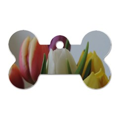 Colored By Tulips Dog Tag Bone (two Sides) by picsaspassion
