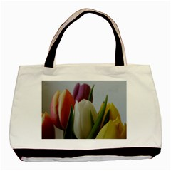 Colored By Tulips Basic Tote Bag (two Sides) by picsaspassion