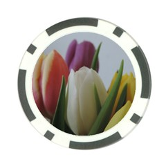 Colored By Tulips Poker Chip Card Guards by picsaspassion