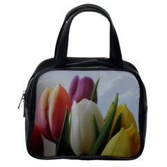 Colored By Tulips Classic Handbags (one Side) by picsaspassion