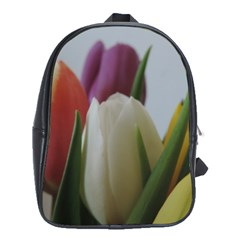 Colored By Tulips School Bags (xl)  by picsaspassion