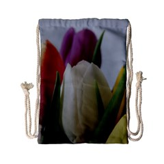 Colored By Tulips Drawstring Bag (small) by picsaspassion