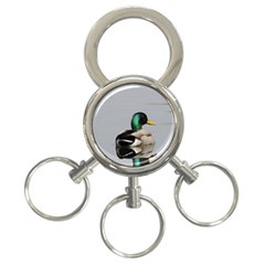 Swimming Duck 3 Ring Key Chains