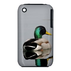Swimming Duck Apple Iphone 3g/3gs Hardshell Case (pc+silicone)