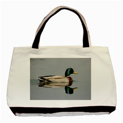 Wild Duck Swimming In Lake Basic Tote Bag