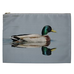 Wild Duck Swimming In Lake Cosmetic Bag (xxl)  by picsaspassion