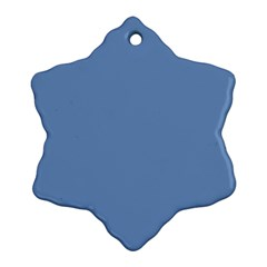 Blue Color Snowflake Ornament (2 Side)