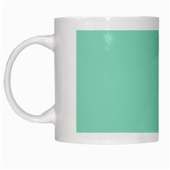 Mint Color White Mugs by picsaspassion
