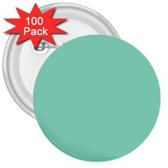 Mint Color 3  Buttons (100 Pack)