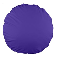 Lilac   Purple Color Design Large 18  Premium Flano Round Cushions by picsaspassion