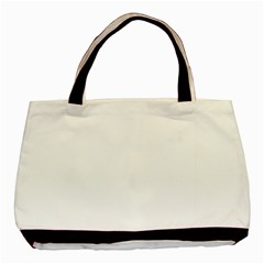 White Color Design Basic Tote Bag