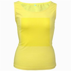 Yellow Color Design Women s Yellow Tank Top by picsaspassion