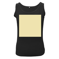 Gold Yellow Color Design Women s Black Tank Top