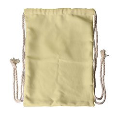 Gold Yellow Color Design Drawstring Bag (large) by picsaspassion