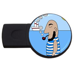 Sailor Usb Flash Drive Round (2 Gb)  by Valentinaart