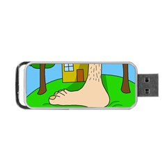 Giant Foot Portable Usb Flash (one Side) by Valentinaart