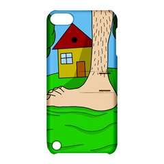 Giant Foot Apple Ipod Touch 5 Hardshell Case With Stand by Valentinaart