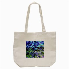Colorful Floral Art Tote Bag (cream) by yoursparklingshop