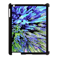 Colorful Floral Art Apple Ipad 3/4 Case (black) by yoursparklingshop